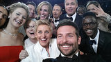 And here's that other famous Oscars selfie that Ellen Degeneres took in March 2014 with Bradley Cooper, Jennifer Lawrence, Julia Roberts, Brad Pitt, and many more. Source: Twitter user TheEllenShow