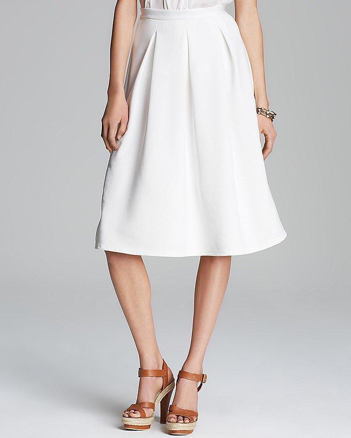 Aqua White Skirt