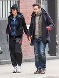 Sarah Silverman and Michael Sheen hold hands in NYC