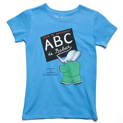 Out of Print ABC de Babar Tee