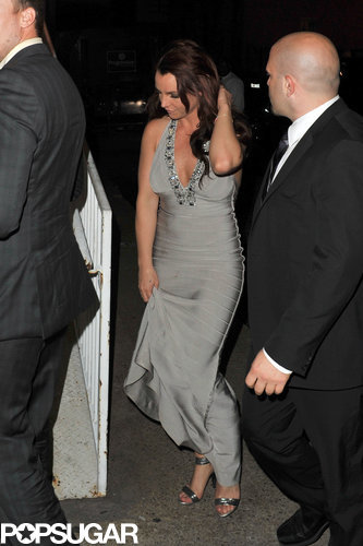 Britney Spears wore a gown to celebrate her sister's marriage in New Orleans in March 2014.