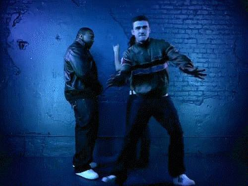 "When he made this move in the ""Give It to Me"" video."