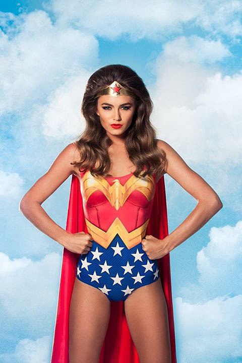 Wonder Woman Cape Suit  Source: Facebook user Black Milk Clothing