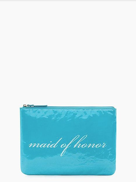 Kate Spade New York Wedding Belles Gia Blue Maid of Honor Zipper Clutch ($25, originally $78)