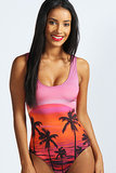 Boohoo Cayman Deep Sunset Swimsuit ($45)