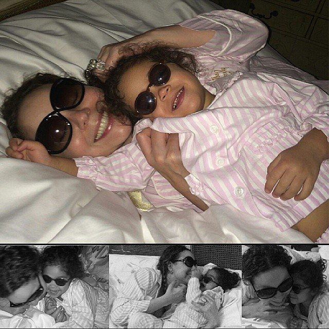Mariah Carey had a girls' day with her daughter, Monroe. Source: Instagram user mariahcarey