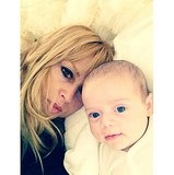 Rachel Zoe showed her youngest son, Kaius, how to take a selfie. Source: Instagram user rachelzoe