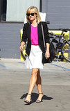 Reese Witherspoon looked pretty in pink on Tuesday, when she ran errands in LA.