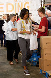 Michelle Obama at the Capital Area Food Bank in 2009