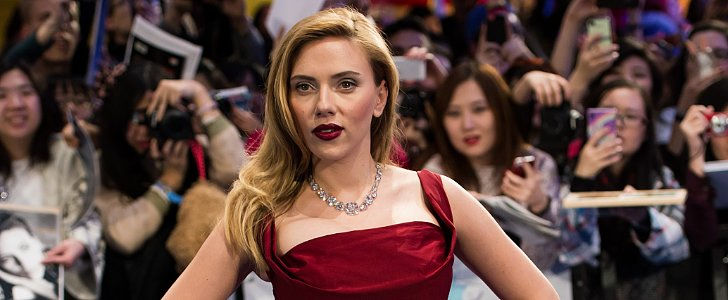 Scarlett Shows Off Her Gorgeous Grin, but Hides Her Baby Bump