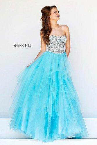Sherri Hill 11085 Prom Dress Beaded Plunging Neck Green