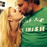 Jessica Simpson shared a sweet kiss with her Irishman fiancé, Eric Johnson, on St. Patrick's Day. Source: Instagram user jessicasimpson