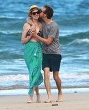 Anne Hathaway and Adam Shulman showed PDA in Hawaii in January 2014.