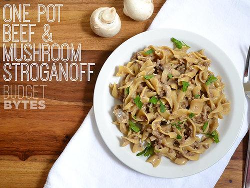 One-Pot Beef and Mushroom Stroganoff