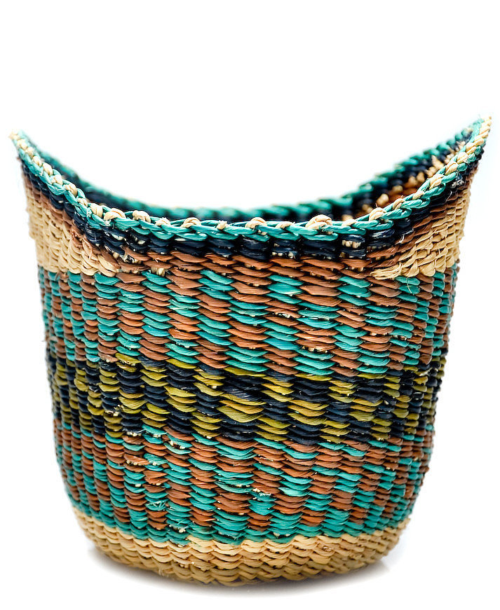 Store in style using a winged woven basket ($20).