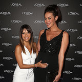 Megan Gale and Eva Longoria at Melbourne Fashion Festival