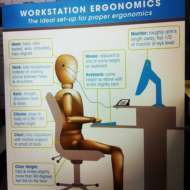 Don't settle for a poor set-up. Make sure your office is ergonomically optimized!  Source: Instagram user shanika_yvette