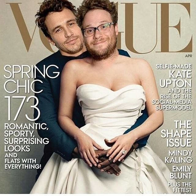 The first parody came from a duo well-versed on all things Kim and Kanye. Last Friday, James Franco and Seth Rogen released their second parody of the couple. Source: Facebook user James Franco