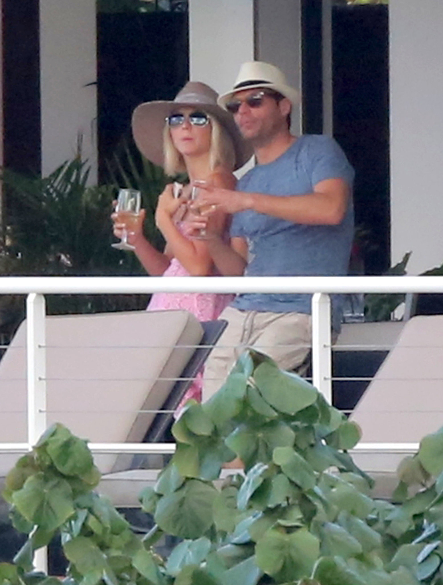 Julianne Hough and then-boyfriend Ryan Seacrest vacationed together in St. Barts during a January 2013 getaway.