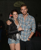 Theo and Shailene got close at a theater in Thousand Oaks, CA, earlier this month.