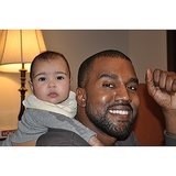Kim debuted this photo of North and Kanye on the Ellen show. Source: Instagram user kimkardashian