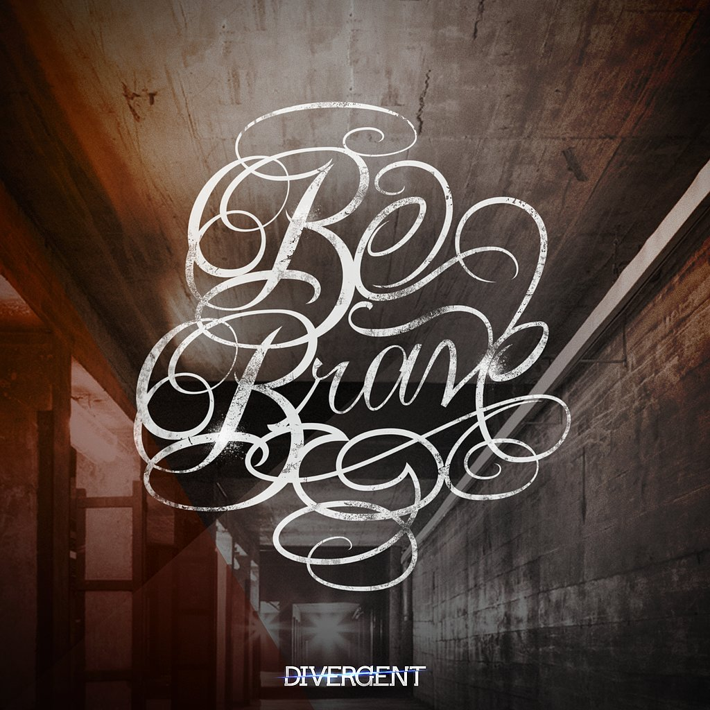 "If I created my own #Dauntless tattoo it would say ""Be Brave."" in #Four-esque handwriting. What would yours be? @Divergent #Divergent — Divergent Lexicon (@DivergentNation) March 11, 2014  Source: Summit Entertainment / Tattoo Tony"