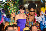 What a party! Anne Hathaway flashed her megawatt smile at the Rio 2 premiere in Miami on Friday.