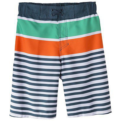 Boys' Stripe Swim Trunk