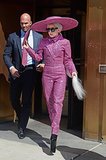 On Monday, Lady Gaga wore a pink ensemble during a day out in NYC.