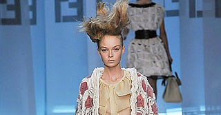 Fendi Spring 2009: Delicate Dresses, Big Belted