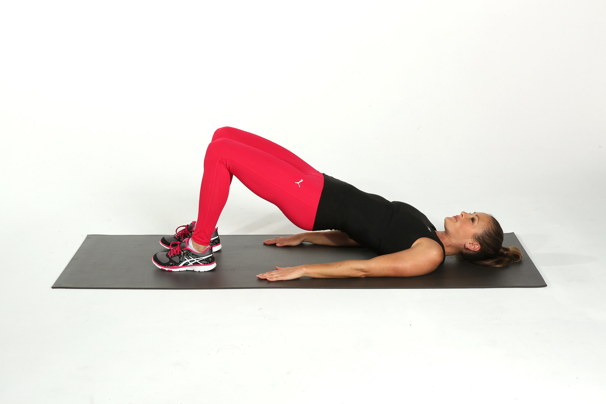 How to tone the hamstrings popsugar fitness for Floor exercises for abs