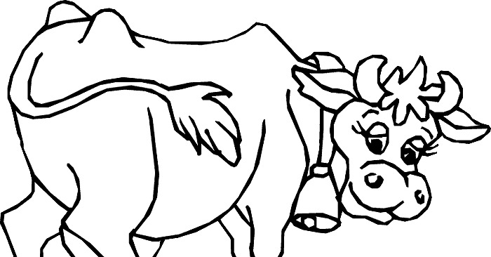 dairy cows coloring pages - photo#29