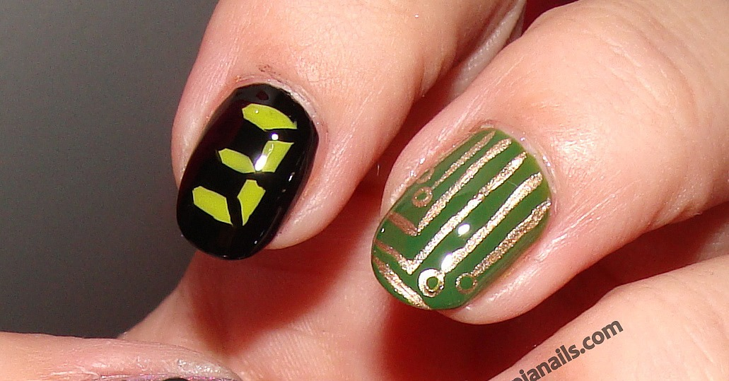 The Hunger Games Nail Art Series - District 3