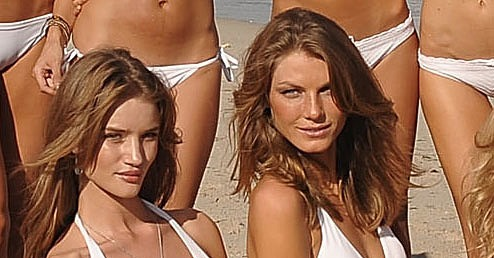Rosie Huntington-Whiteley, Angela Lindvall.