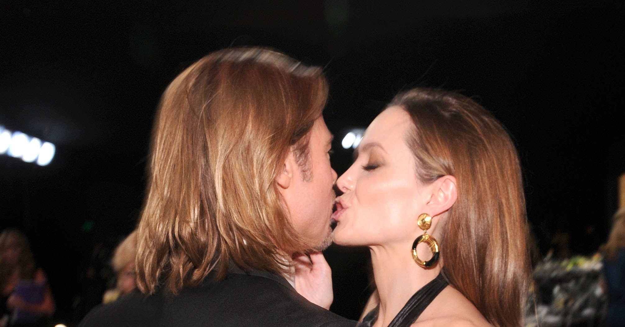 Brad Pitt kissed Angel... Angelina Jolie And Brad Pitt