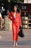Jordana Brewster in a Red Suit