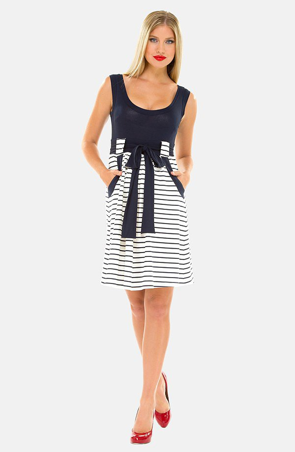 Olian Stripe Maternity Dress