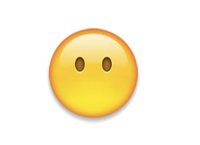 "Interpretation: ""I'm scared; I think I just saw a ghost.""  Name + meaning: Face Without Mouth. Represents silence, as this emoji is always silent. Imagine the things he would say if he had a mouth.  Also known as: Silent emoji; blank face emoji Source: Emojipedia"