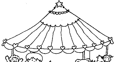 Free carousel horses coloring pages for Carousel coloring pages