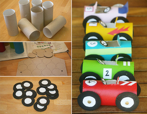 Toilet Paper Tube Race Cars