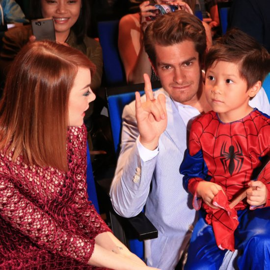 Emma Stone and Andrew Garfield at Singapore Spider-Man Event