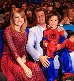 Andrew and Emma hung out with a young Spidey fan at an event in Singapore in March 2014.