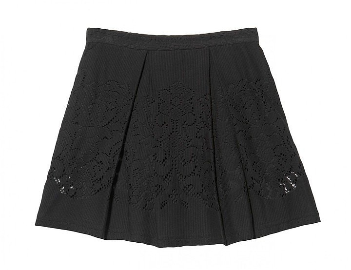 Sea Pleated Eyelet Skirt