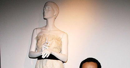 Designer Philip Lim poses by his wedding dress