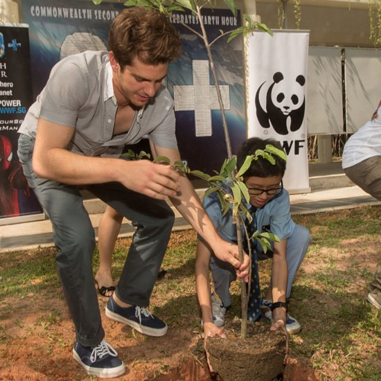 Andrew Garfield and Jamie Foxx at WWF Event in Singapore