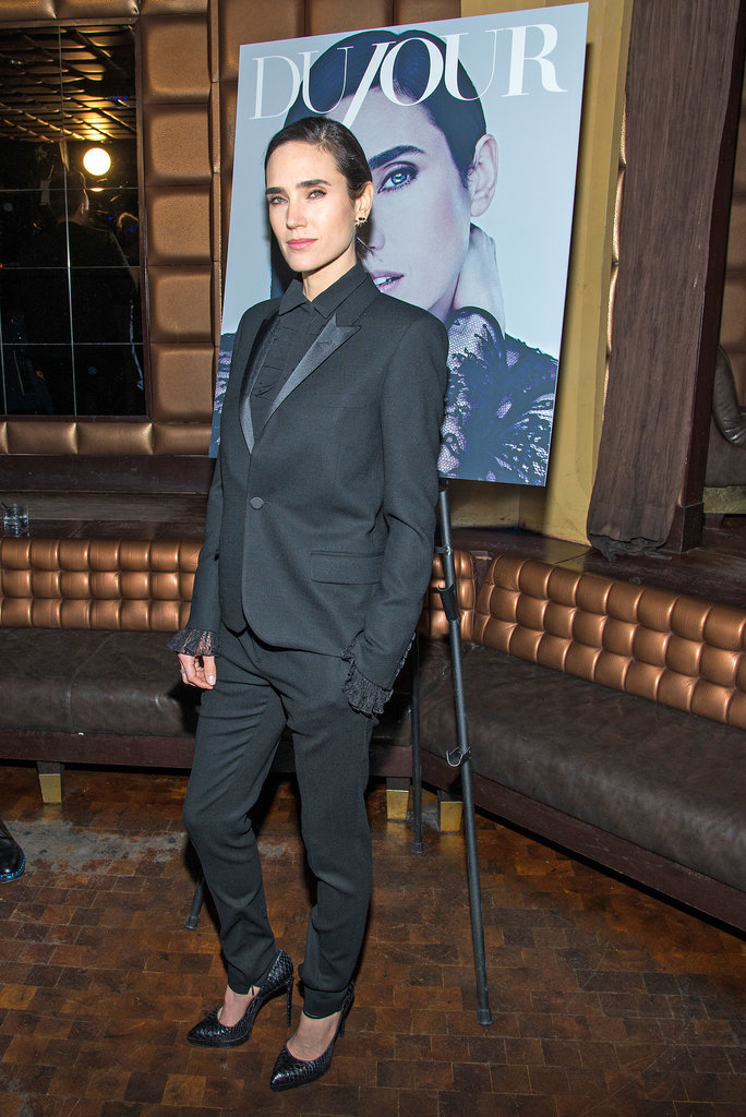 Jennifer Connelly in a Saint Laurent Suit