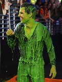 Taylor Lautner was soaked in slime in 2012.