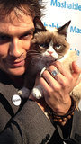 Ian Somerhalder Meeting Grumpy Cat
