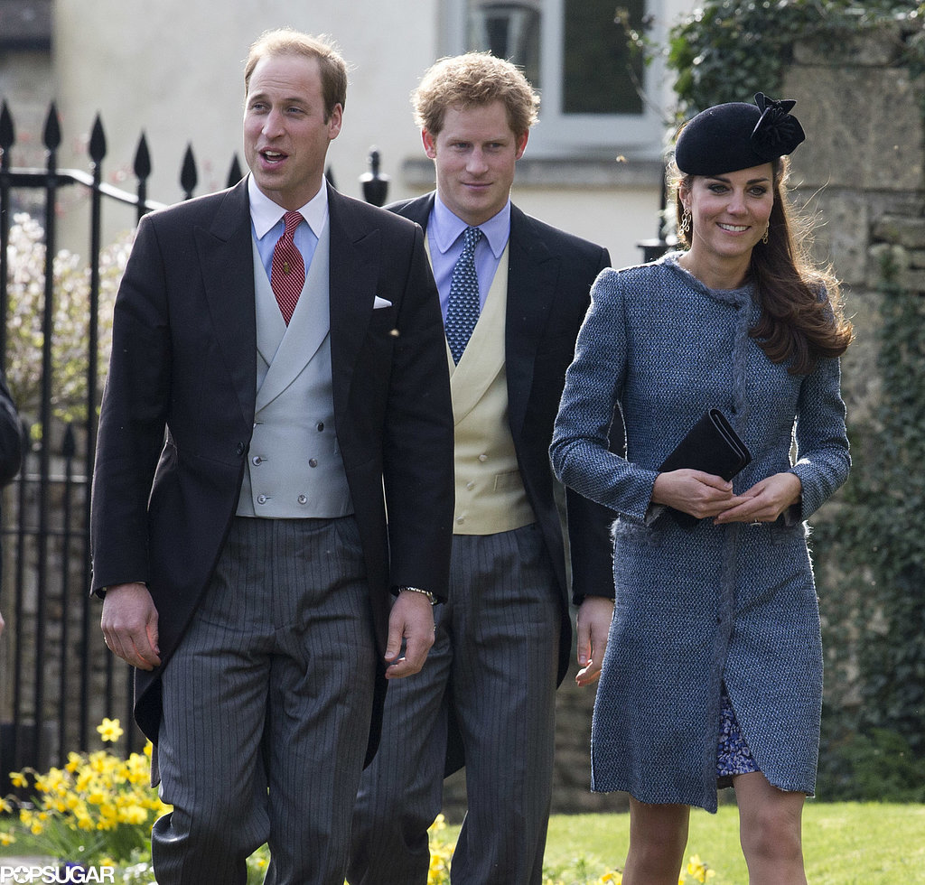 The Royal Trio Is Back! Kate, William, and Harry Feel the Wedding Love