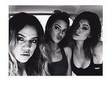 The sisters took plenty of selfies. Source: Instagram user kyliejenner